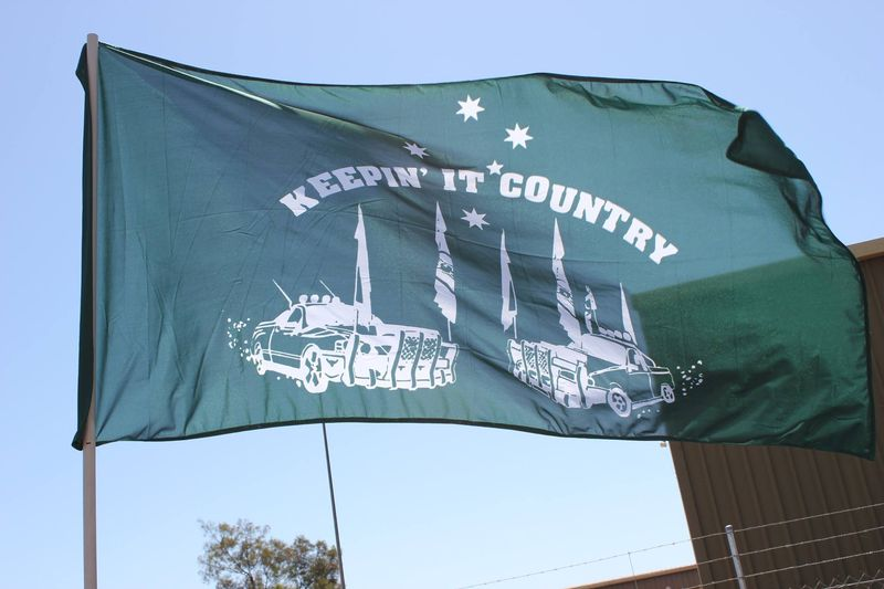Keepin it country flag